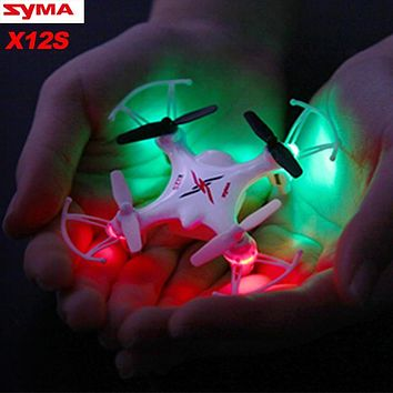 SYMA X12S Pocket Dron Nano RC Quadcopter Aircraft 4CH 6 Axis 2.4GHz Mini Drone RC Helicopter Remote Control Toys For Children