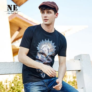 Summer Casual Strong Character Stylish Print Short Sleeve T-shirts [7951252035]