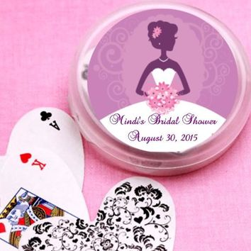 12 Purple Bride Bridal Shower and Wedding Deck of Cards Favors
