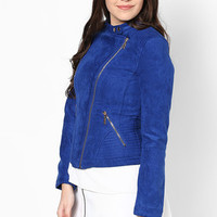 Hot Blue Bomber Jacket