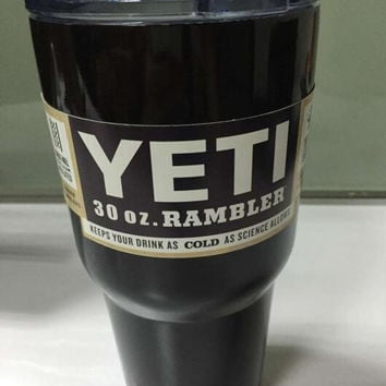 In Stock Black Color 304 Stainless Steel Insulation Cup 30 OZ  YETI Cups Cars Beer Mug Large Capacity Mug Tumblerful
