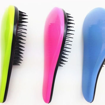 [Crazy Professional Detangle Brush Paddle Hair Beauty Healthy Styling Care Hair Comb = 5988084865