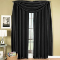 Black Soho Scarf Window Treatment