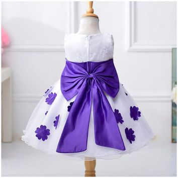 Summer 2017 Baby Girls Dress Princess TuTu Flower Dresses for Party  Wedding Birthday Kids Clothes ropa de ninas