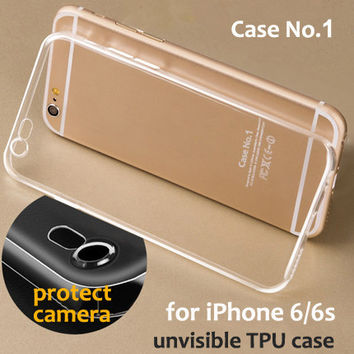 6/6s Flexible Crystal Clear Transparent Soft TPU Case For Apple Iphone 6/6s Cute Cell Phone Cover Fundas Silicone Gel Case 6 S