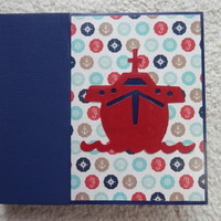 6 x 6 Premade Cruise Scrapbook Album in Blue
