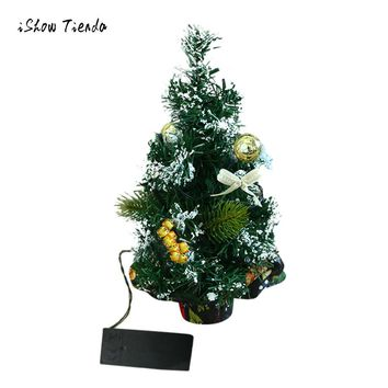 2018 Merry Christmas LED Glow Tree Bedroom Desk Decoration Gift Office Home Festival Decoration PVC Desktop Christmas tree