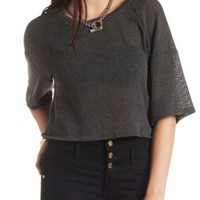 Kimono Sleeve Sweater Knit Crop Top by Charlotte Russe
