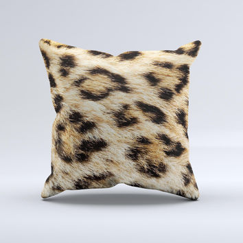 Real Cheetah Animal Print Ink-Fuzed Decorative Throw Pillow