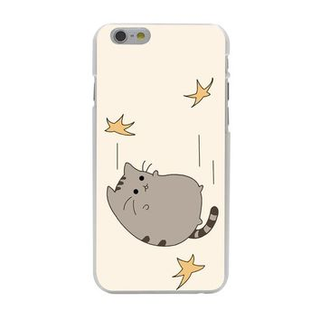 Lavaza Pusheen Cat -Hard Coque Shell Case for iPhone 10 X 8 7 6 6s Plus 5 5S SE 5C 4 4S