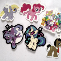 Set of 6 Authentic Hot Topic Exclusive My Little Pony / MLP Vinyl Stickers for Crafting & Scrapbooking