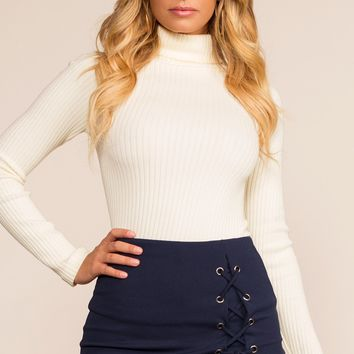 Side Piece Skort - Navy
