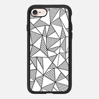 Abstraction Lines Black on White iPhone 7 Case by Project M | Casetify
