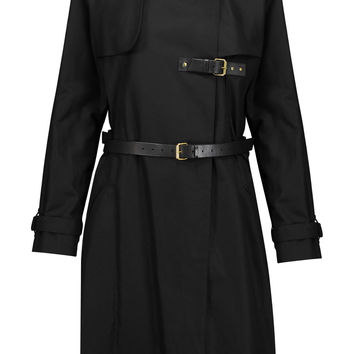 Hanya belted cotton and linen-blend coat | Isabel Marant | US | THE OUTNET