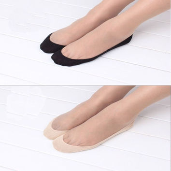1 Pair Women Lady Girl Cotton Lace Sock Antiskid Invisible Liner No Show Peds Low Cut Socks