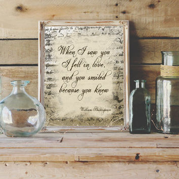 8x10 Shakespeare Quote Print Wall Art