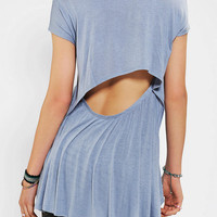 Urban Outfitters - Sparkle & Fade Open-Back Drapey Tee
