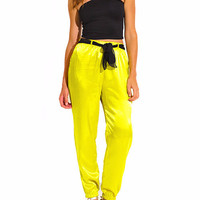 Yellow/Green Joggers with tie