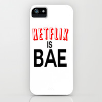 Netflix Is Bae iPhone & iPod Case by Poppo Inc.   Society6