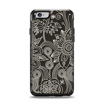 The Black Floral Laced Pattern V2 Apple iPhone 6 Otterbox Symmetry Case Skin Set