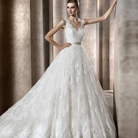 New Lace White/Ivory Wedding Dress Prom Gown Size 2-4-6-8-10-12-14-16-18-20-22++