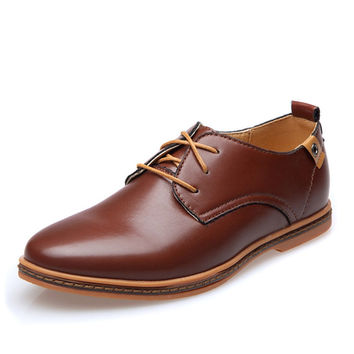 Plain Toe Oxford Shoes