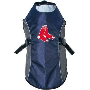 DCCKT9W Boston Red Sox Water Resistant Reflective Pet Jacket