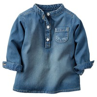 Carter's Chambray Henley - Baby Girl (Blue)