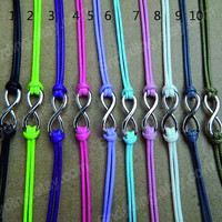 Infinite hope bracelets --- 10 colors to choose from