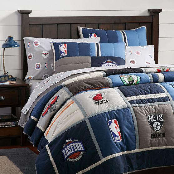 NBA Patchwork Quilt + Sham, Eastern from PBteen | Bedding Love