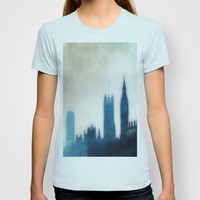 The Many Steepled London Sky T-shirt by Ally Coxon |Available as Men's TShirt, Print, iphone case,pillows etc at   Society6