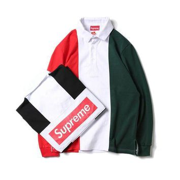 Supreme Long Sleeve Hoodies Winter Patchwork Casual Jacket [76110987276]