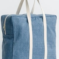 Washed Denim Safari Overnight Bag by Baggu - with detachable pouch!