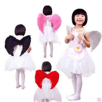 New Hot Adults Kids Feather Fairy Angel Wings Halloween Party cosplay Fancy Dress Costume size for adult and kids