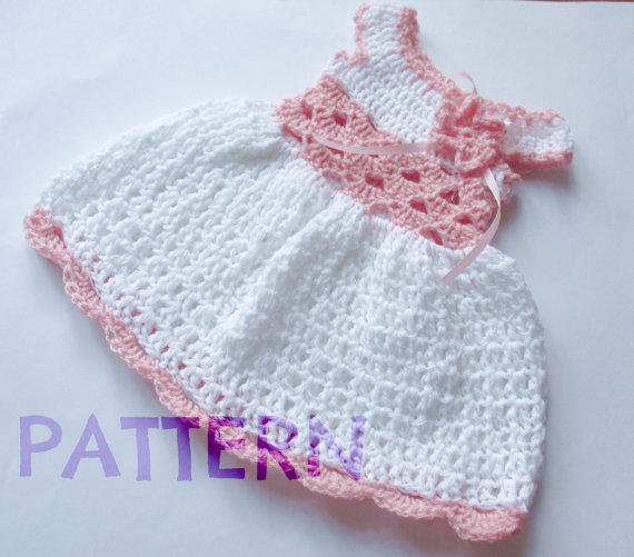Crochet Patterns Pdf : Crochet Baby dress Pattern PDF Crochet from paintcrochet my