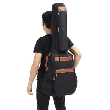 """41"""" Oxford Cloth Paded Guitar Backpack Bag Guitarra Ukulele Case Cover with Double Straps For Folk Guitar Parts Accessories"""
