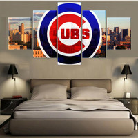 CUBS Canvas 5 Pieces Home  Sport Fathers Day ManCave