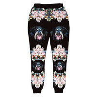 Floral Rottweiler Joggers