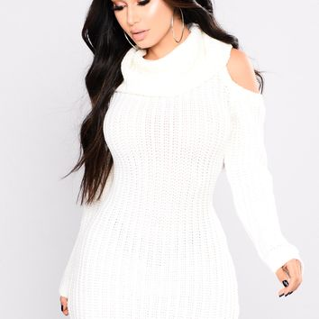 Thea Sweater Dress - Off White