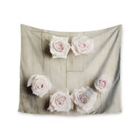 "Cristina Mitchell ""Smile"" Wood Roses Wall Tapestry"
