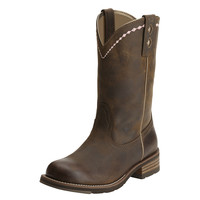 Ariat Womens Unbridled Roper Distressed Brown Cowgirl Boot
