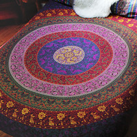 By The Moon - Columbia Mandala Throw - Queen