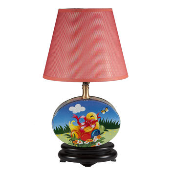 Vintage Baby Chick Tin Upcycled Lamp
