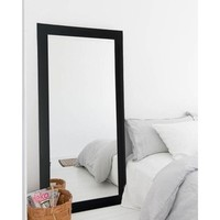 Modern Black Floor Mirror - Free Shipping Today - Overstock.com - 19033622 - Mobile
