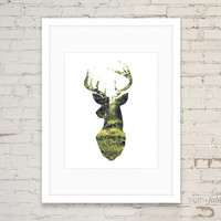 Forest Stag DIY Art Print