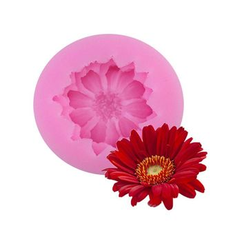 Barberton Daisy Flower Silicone Mold Fondant Cake Decorating Silicone Moulds Baking Tools For Cake Bakeware Free Shipping 1558