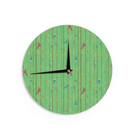 "Allison Beilke ""Hello Birdies"" Wall Clock"