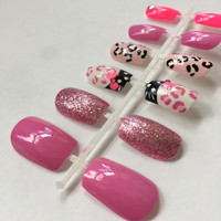 Hello Kitty Hand Painted Nails