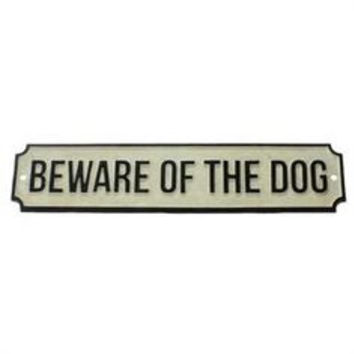 Beware of dog BW Sign