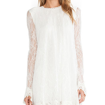 RACHEL ZOE Serafina Lace Babydoll Dress in White